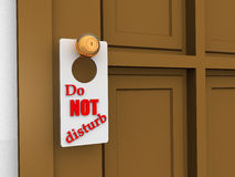 Do Not Disturb. Sign. 3d object stock photography