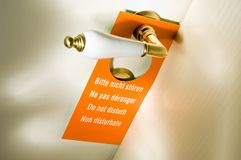 Do not disturb Stock Image