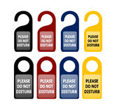 Do not disturb cards. Illustration Royalty Free Stock Images