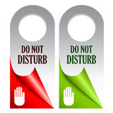 Do not disturb. Vector cards illustration Stock Images