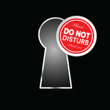 Do not disturb circle on keyhole in red color illustration Royalty Free Stock Images