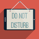 Do not disturb. Concept for addiction to gadgets and the internet. Flat design illustration Royalty Free Stock Photography