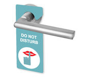 Do not disturb on door handle Royalty Free Stock Photos