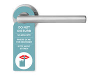 Do not disturb on door handle Royalty Free Stock Photography