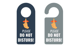 Do not disturb. Door hanger. Keep quiet sign. Vector Stock Photos
