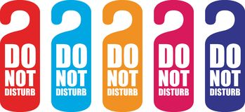 Do not disturb door hanger Royalty Free Stock Photo