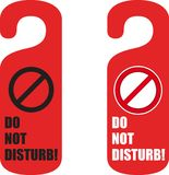 Do not disturb door hanger Royalty Free Stock Photography
