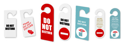 Do not disturb door signs Royalty Free Stock Photo