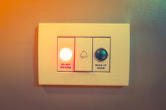 Do not disturb electronic sign light . ( Filtered image processe Royalty Free Stock Photography
