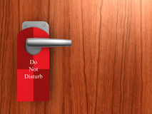 Do not disturb on hotel door Royalty Free Stock Image
