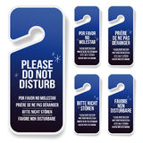 Do not disturb hotel door hanger Stock Image