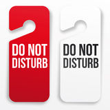 Do not disturb hotel door hanger. (Red and white Stock Photos