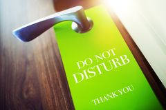 Do Not Disturb Hotel Hanger Stock Photography