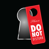 Do not disturb on keyhole in red color illustration Stock Photo