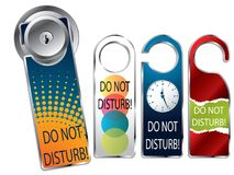 Do not disturb labels Royalty Free Stock Images