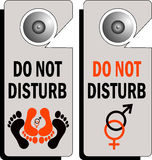 Do not disturb logo stock illustration