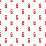 Do not disturb red sign pattern, cartoon style Stock Photo