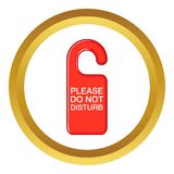 Do not disturb red sign vector icon Royalty Free Stock Image