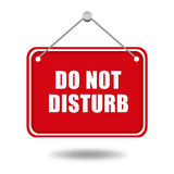Do not disturb. Red signboard Stock Photo