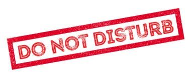 Do not disturb rubber stamp. On white. Print, impress, overprint Royalty Free Stock Photos