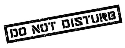 Do not disturb rubber stamp. On white. Print, impress, overprint Royalty Free Stock Photography