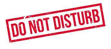 Do not disturb rubber stamp. On white. Print, impress, overprint Stock Photos