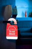 Do not disturb sign Royalty Free Stock Photography