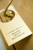 Do not disturb sign on the door Stock Photo