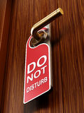 Do not disturb sign on the door Stock Image