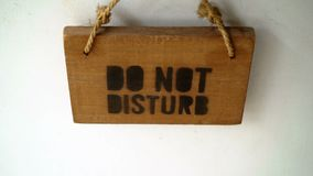Do not disturb sign stock footage