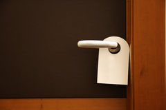 Do not disturb sign on hotel door Royalty Free Stock Photos