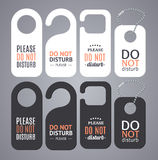 Do Not Disturb Sign Labels. Vector Royalty Free Stock Photo
