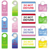 Do Not Disturb Signs Set Royalty Free Stock Image