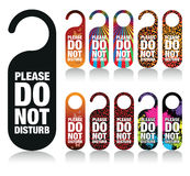 Do not disturb signs Royalty Free Stock Photo