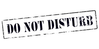 Do not disturb. Stamp with text do not disturb inside,  illustration Royalty Free Stock Photos
