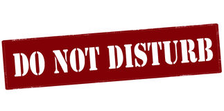 Do not disturb. Stamp with text do not disturb inside,  illustration Royalty Free Stock Photo
