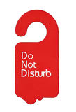 Do not disturb tag Stock Photography