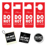 Do not disturb tag set design illustration in colorful Royalty Free Stock Image