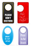 Do not disturb tags Stock Image