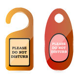 Do not disturb tags Stock Images