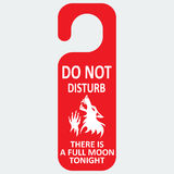 Do not disturb.  Werewolf. Full moon Royalty Free Stock Images