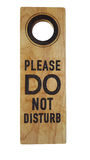 Do not disturb wooden isolate Royalty Free Stock Photos