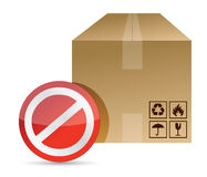 Do not, don�t sign on a brown box packaging Royalty Free Stock Image
