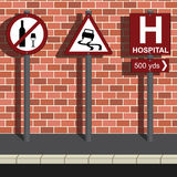 Do Not Drink and Drive Message. Three road signs portraying do not drink and drive message Royalty Free Stock Image