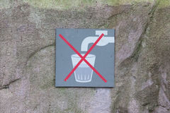 Do not drink water Stock Images