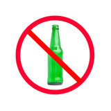 Do not drinking sign stock image