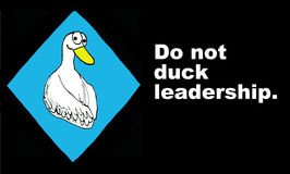 Do not duck leadership Stock Images