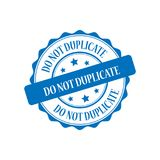 Do not duplicate stamp illustration. Do not duplicate blue stamp seal illustration design Stock Images