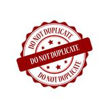 Do not duplicate stamp illustration. Do not duplicate red stamp seal illustration design Royalty Free Stock Photography