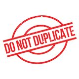Do Not Duplicate rubber stamp Stock Photo